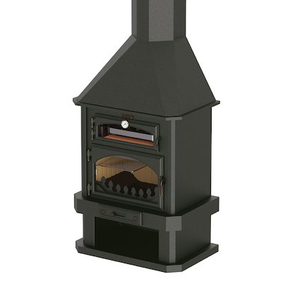 Bronpi Ebro Mural Wood Fireplace - With Oven