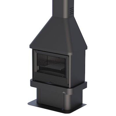 Bronpi Lisboa Mural Wood Fireplace Black Solid Sides