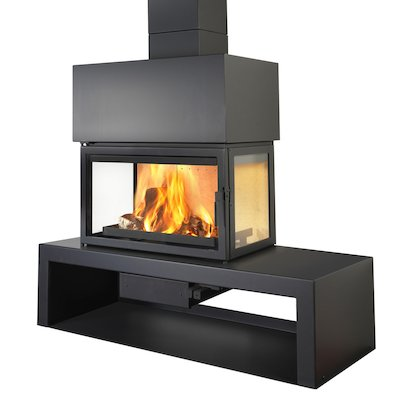 LL Calor 15DE Mural Wood Fireplace