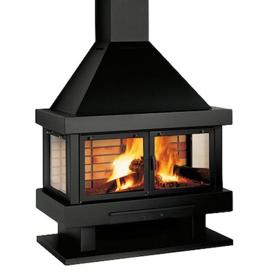 Rocal Barbara 120 Mural Wood Fireplace