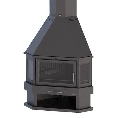 Bronpi Lorca-R Corner Wood Fireplace