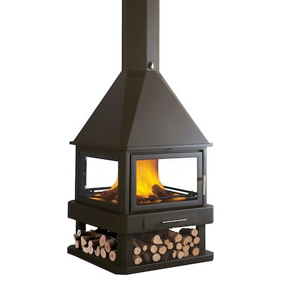 Bronpi Huelva Central Wood Fireplace