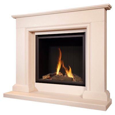 Flavel Sophia Conventional Gas Micro-Marble Fireplace Suite