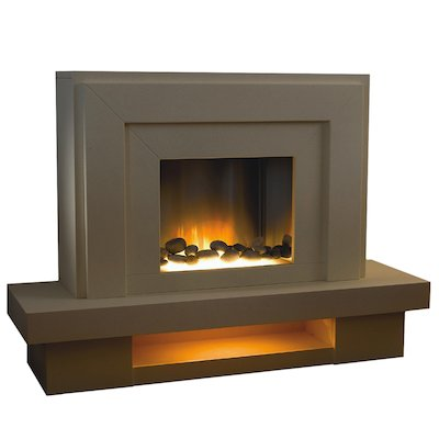 Flamerite Lazio Electric Fireplace Suite