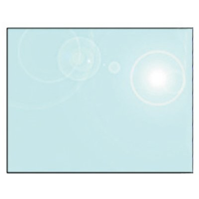 EVA 12mm Rectangular Glass Hearth Floor Plate (1000x850)