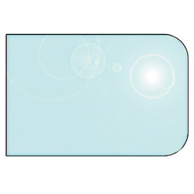 EVA 12mm Rounded Rectangle Glass Hearth Floor Plate (1100x850)