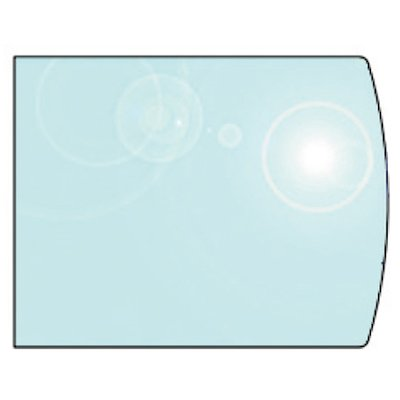 EVA 12mm Extended Full Chord Glass Hearth Floor Plate (850x800)