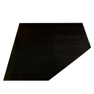 EVA 20mm Clipped Square Polished Black Granite Floor Plate (1000x1000)