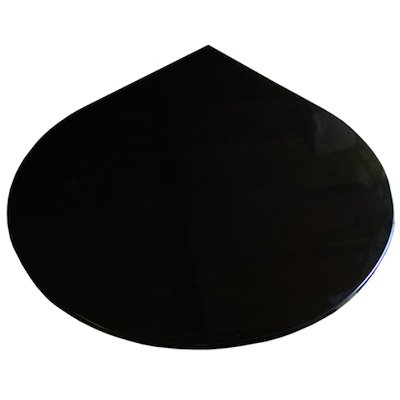 EVA 20mm Teardrop Circle Polished Black Granite Floor Plate (1100x950)