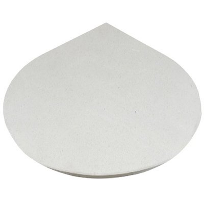 EVA 20mm Teardrop Circle Limestone Floor Plate (1100x950)