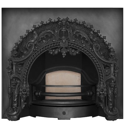 Carron Rococo Cast-Iron Arched Fireplace Insert