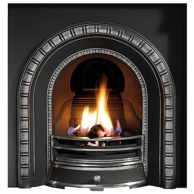 Gallery Henley Cast-Iron Arched Fireplace Insert