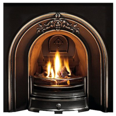Gallery Landsdowne Cast-Iron Arched Fireplace Insert