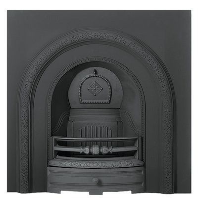 Gallery Lytton Cast-Iron Arched Fireplace Insert