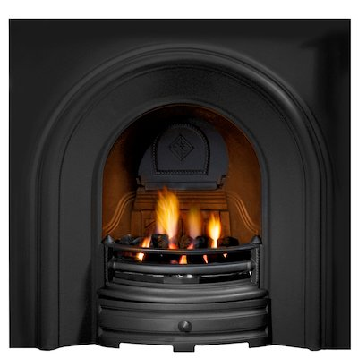 Gallery Crown Cast-Iron Arched Fireplace Insert