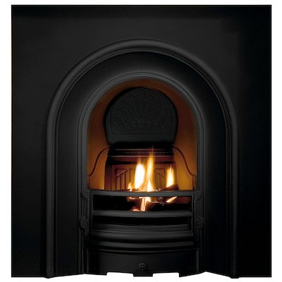 Gallery Coronet Cast-Iron Arched Fireplace Insert