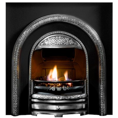 Gallery Bolton Cast-Iron Arched Fireplace Insert