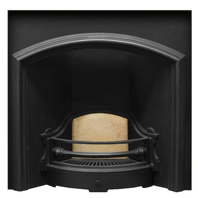 Carron London Plate Wide Cast-Iron Fireplace Insert