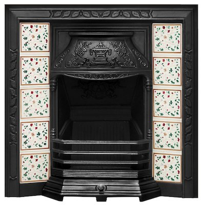 Carron Laurel Cast-Iron Tiled Fireplace Insert