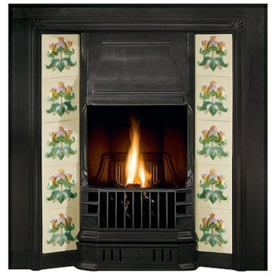 Gallery Prince Cast-Iron Tiled Fireplace Insert