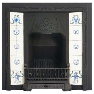 Gallery Toulouse Cast-Iron Tiled Fireplace Insert