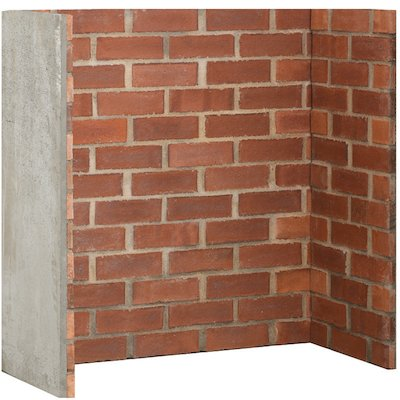 Gallery Cobbled Red Brick Effect Chamber - Complete Lining Set
