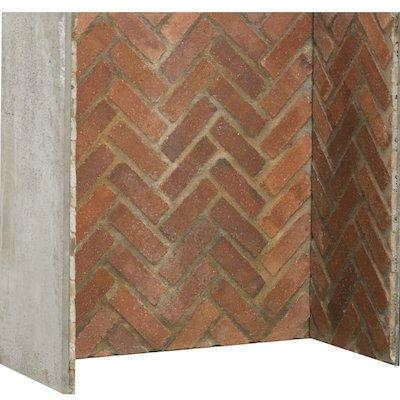 Gallery Rustic Herringbone Brick Effect Chamber - Complete Lining Set