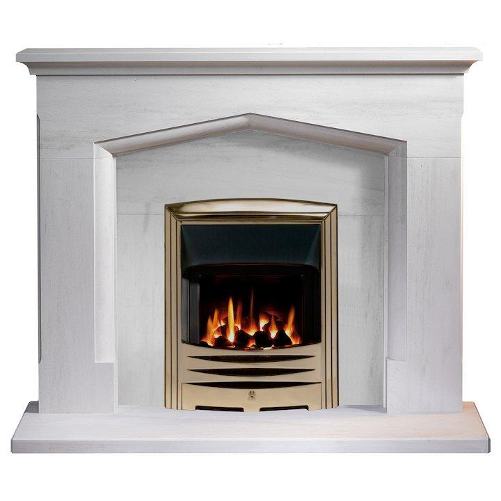 Gallery Witchford 54 Portuguese Limestone Fireplace Limestone