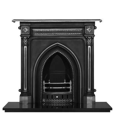 Carron Gothic Cast-Iron Fireplace Combination