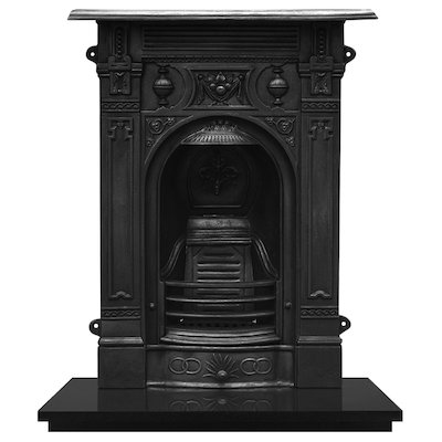 Carron Victorian Small Cast-Iron Fireplace Combination