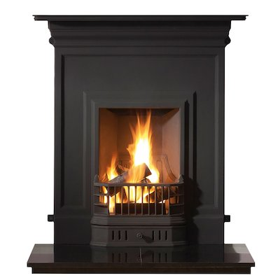 Gallery Barcelona Cast-Iron Fireplace Combination