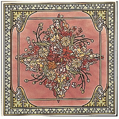 Stovax Alphonse Mucha Spring Single Ceramic Fireplace Tile