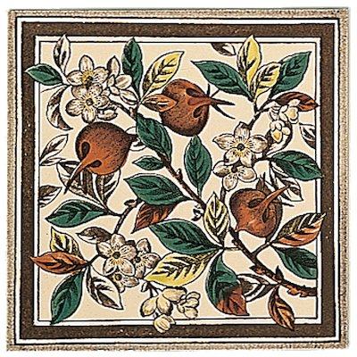 Stovax Apple Blossom Single Ceramic Fireplace Tile