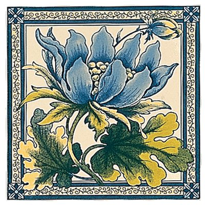 Stovax Peony Single Ceramic Fireplace Tile