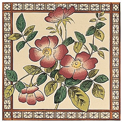 Stovax Sweetbriar Single Ceramic Fireplace Tile