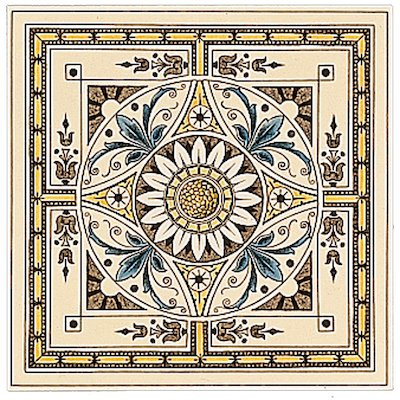 Stovax Symmetrical Classical Single Ceramic Fireplace Tile