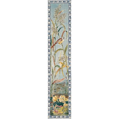 Stovax Birds & Butterflys Ceramic Fireplace Tile Set (5)