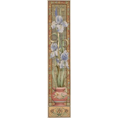 Stovax Blue Iris Ceramic Fireplace Tile Set (5)