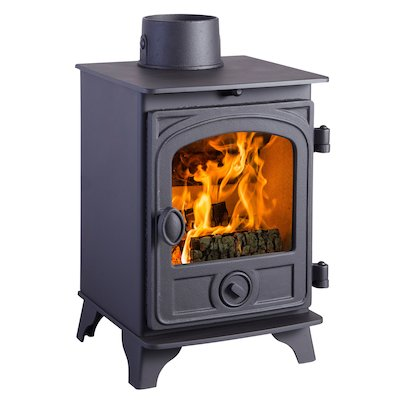 Hunter Hawk 3 Wood Stove Black Contemporary Door