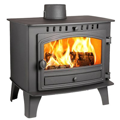 Hunter Herald 14 Wood Stove Black Single Door