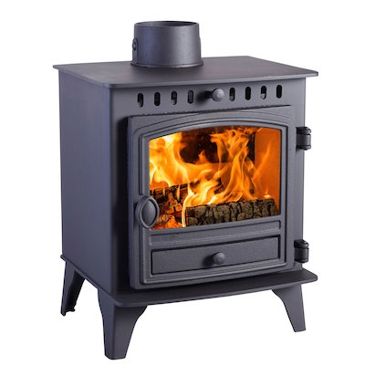 Hunter Herald 4 Wood Stove Black Single Door