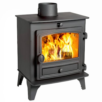 Hunter Herald 5 Compact Wood Stove Black Single Door