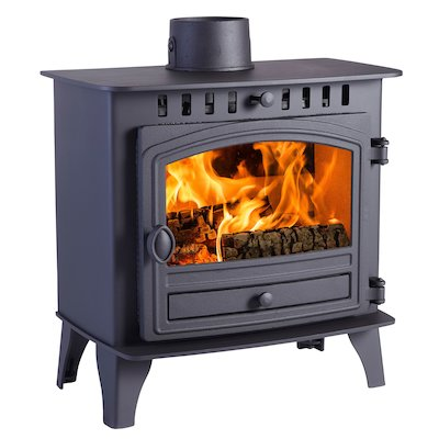 Hunter Herald 5 Slimline Wood Stove Black Single Door