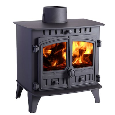Hunter Herald 6 Wood Stove Black Double Doors