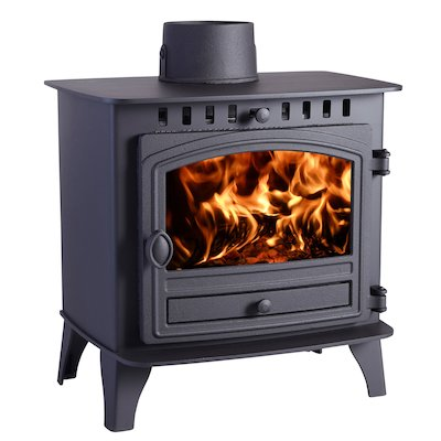 Hunter Herald 6 Wood Stove Black Single Door