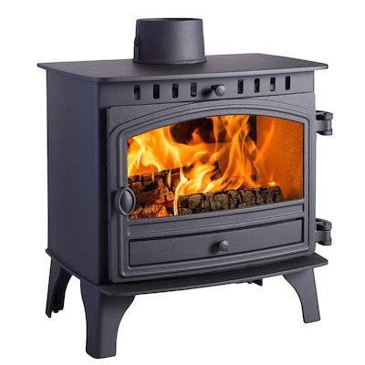 Hunter Herald 8 Wood Stove Black Single Door