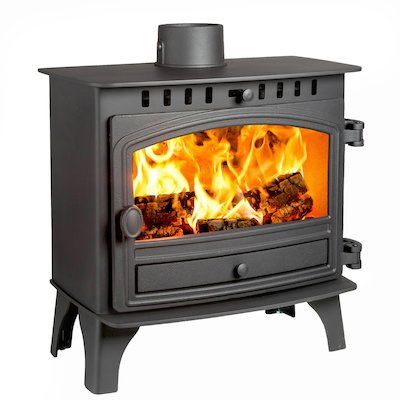 Hunter Herald 8 Slimline Wood Stove Black Single Door