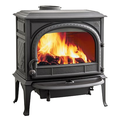 Jotul F400 Wood Stove Black Clear Glass Door