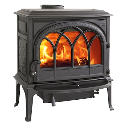 Jotul F400 Wood Stove Black Tracery Glass Door