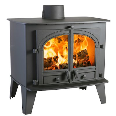Parkray Consort 15 Wood Stove Black Double Doors